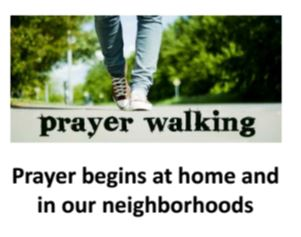 Prayer Walk Bookmark at neighborhood initiative