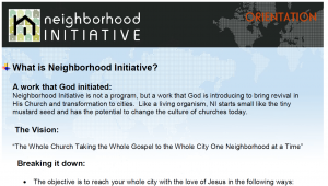 What Is Neighborhood Initiative