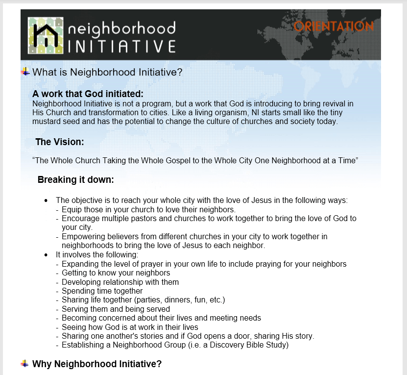 Resources - Neighborhood Initiative